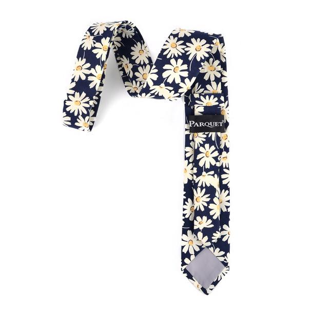 """2.25"""" Daisy Cotton Slim Tie - NVC-DAISY"""