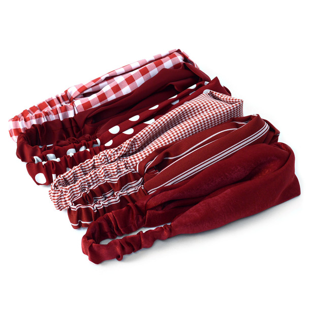 12pc Assorted Ladies Criss Cross Red Summer Headbands - 12EHB1004-RD