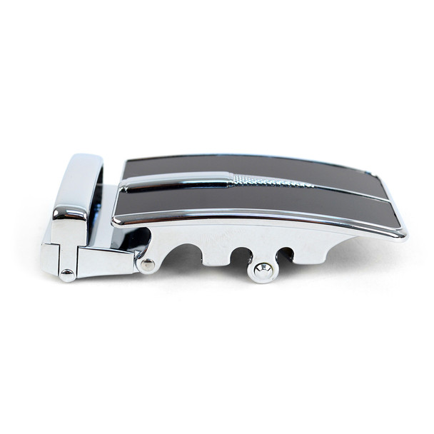 Men's Genuine Leather Sliding Buckle Ratchet Belt - MGLBB51