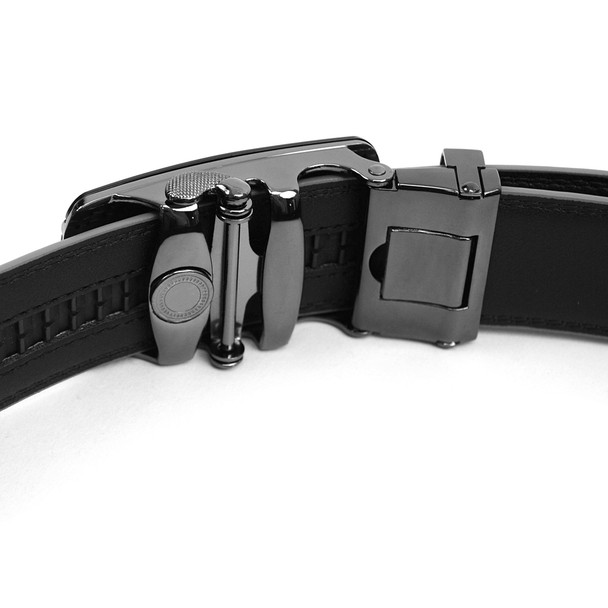 Men's Genuine Leather Sliding Buckle Ratchet Belt MGLBB28