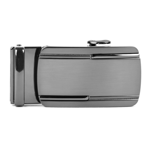Men's Genuine Leather Sliding Buckle Ratchet Belt- MGLBB28