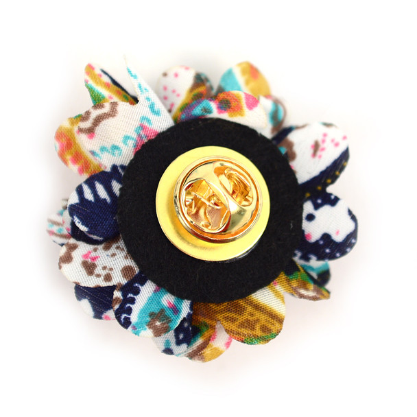 Paisley Flower Mini Bouquet Clutch Back Flower Lapel Pins - PFLP1710