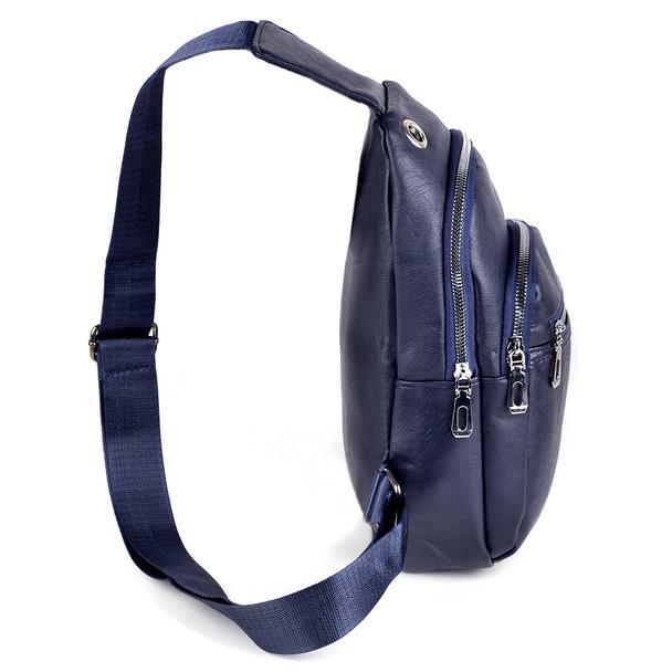 PU Leather Navy Crossbody Sling Bag - FBG1832-NV