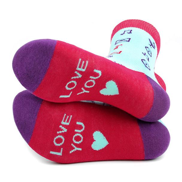 Women's Love Symbols Novelty Socks - LNVS19425-MT