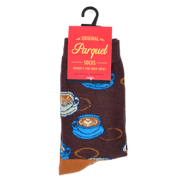 Women's Coffee Novelty Socks - LNVS19419-BR