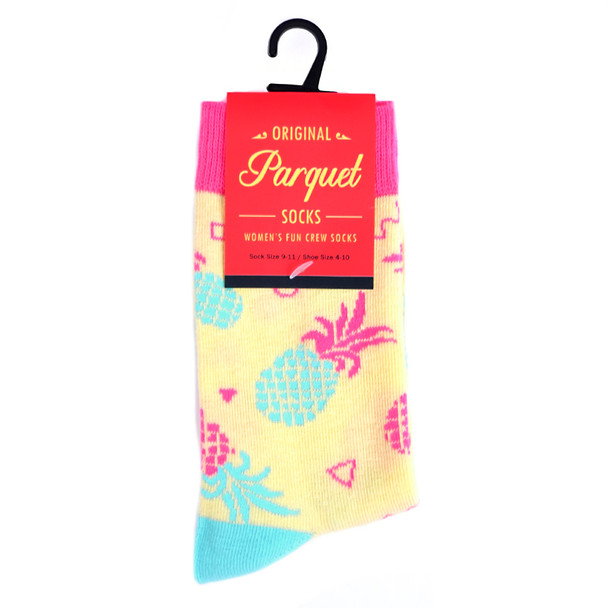 Women's Pineapple Novelty Socks - LNVS19416-GD