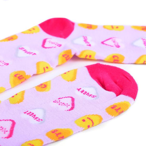 Women's Candy Emoji Hearts Novelty Socks