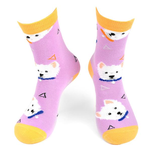 Women's Dog Novelty Socks - LNVS19421-LAV