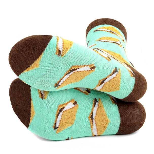 Women's S'mores Novelty Socks - LNVS19420-TQ