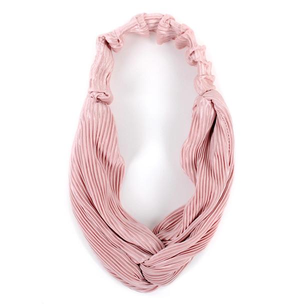 12pc Assorted Ladies Criss Cross Pleated Solid Headbands - 12EHB1013
