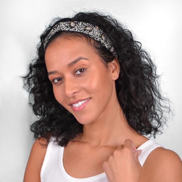 12pc Assorted Ladies Criss Cross Headbands - 12EHB1017