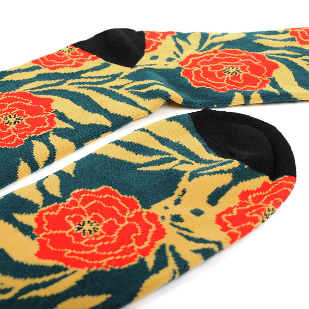 Men's Tropical Flower Novelty Socks - NVS19559-TL