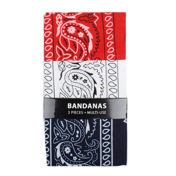 Bandana - 3BNA-NV/WHT/RD