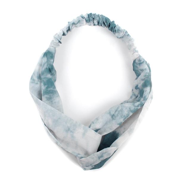 12pc Assorted Ladies Criss Cross Tie Dye Headbands - 12EHB1016