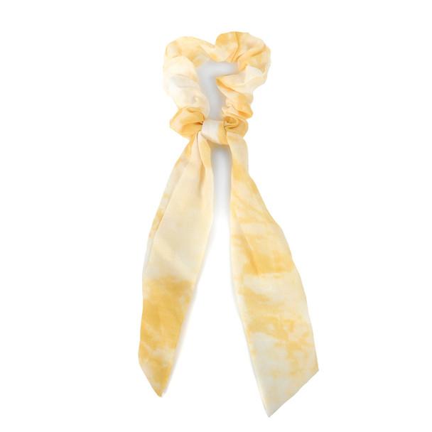 12pc Tie-Dye Scrunchie Ribbon Hair Tie - 12SRT-TD