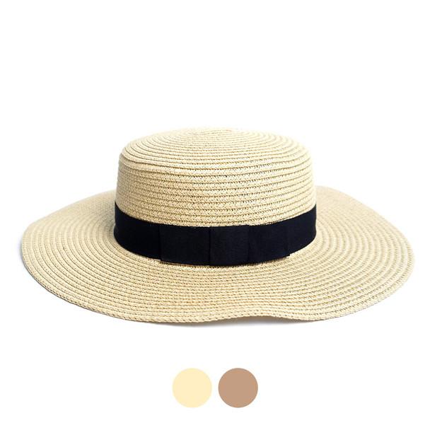 Spring/Summer Flat Top Wide Brim Women's Hat - LFH190100