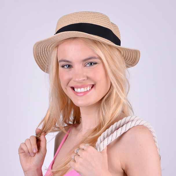 Spring/Summer Flat Top Wide Brim Women's Hat -- LFH190100