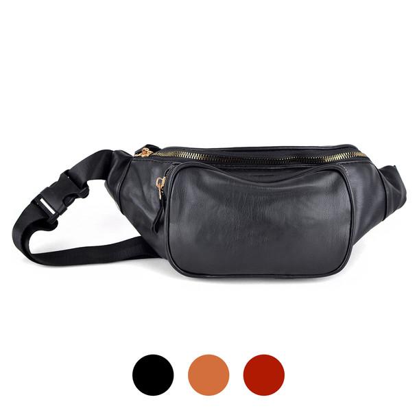 Women's Leather Fanny Packs - LFBG1841