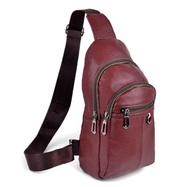 Leather Crossbody Sling Shoulder Bag - FBG1847