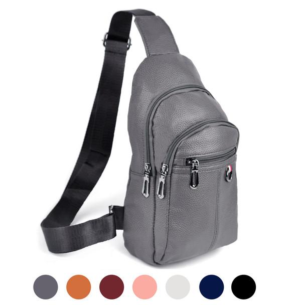 Leather Crossbody Sling Shoulder Bag - FBG1847