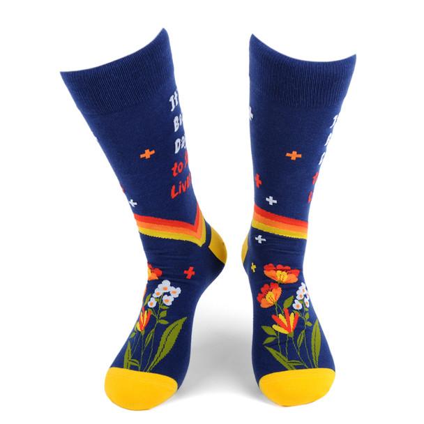 Health Care Heroes -Save Lives- Ultra Premium Socks-NVSX2007-BL