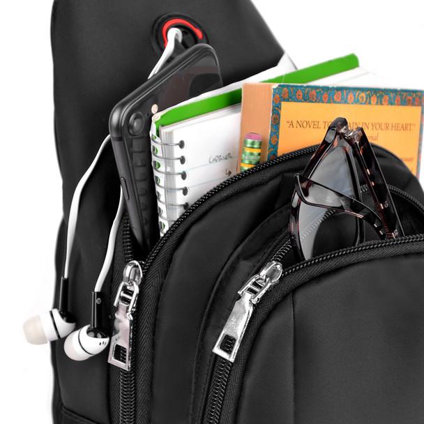Black Crossbody Shoulder  Sling Bag - FBG1844
