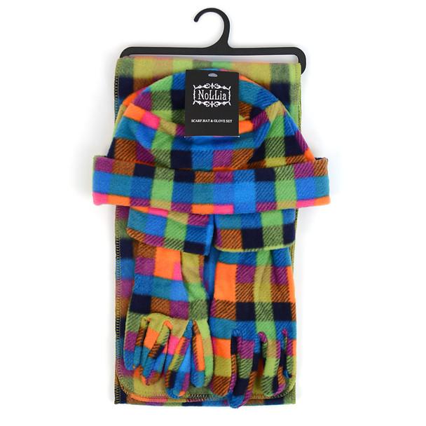 6pc Pack Women's Fleece Plaid Winter Set WSET8050
