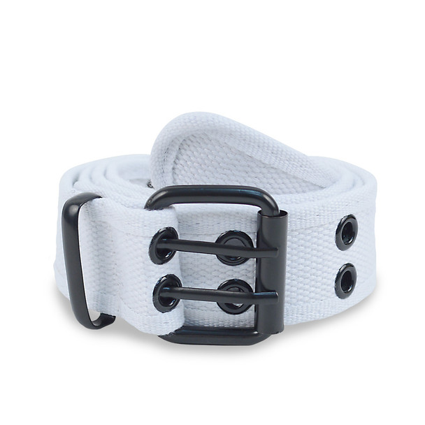 12pc Size Assorted Men's Double Hole Canvas Belt CANB1301