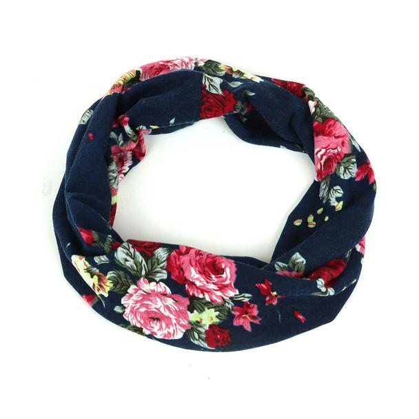 Ladies Floral and Navy Spring/ Summer Headband - EWB1000