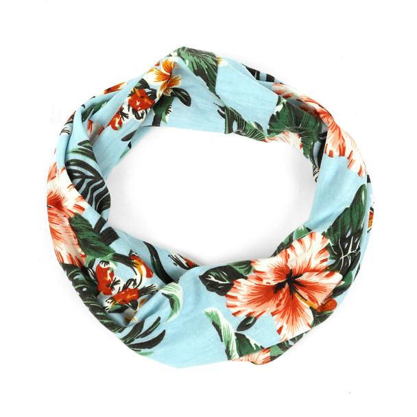 Ladies Summer/Spring Floral and Teal Headband - EWB1004