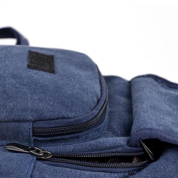 Navy Crossbody Canvas Sling Bag Backpack with Adjustable Strap - FBG1820-NV
