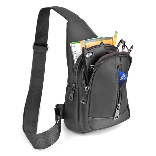 Gray Crossbody Sling Bag Backpack with Adjustable Strap - FBG1823-GRY
