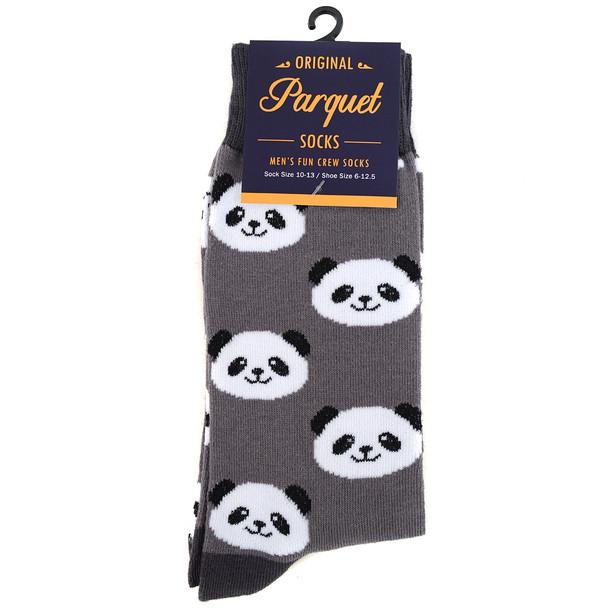 Men's Panda Novelty Socks NVS1785-GRY
