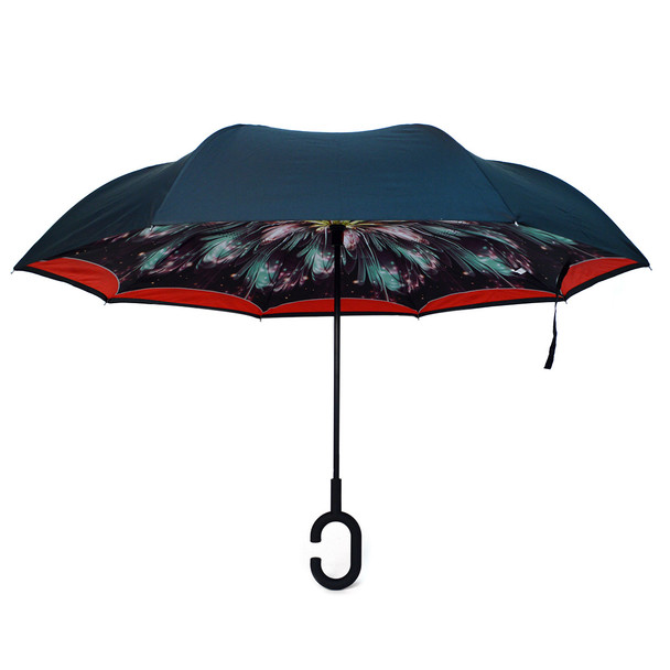 Galaxy Lights Double Layer Inverted Umbrella - UM18070