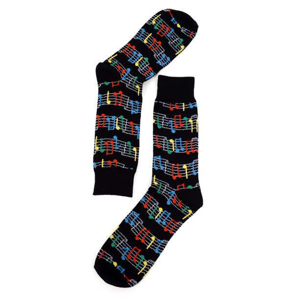 Men's Colorful Music Sheet Novelty Socks - NVS1809
