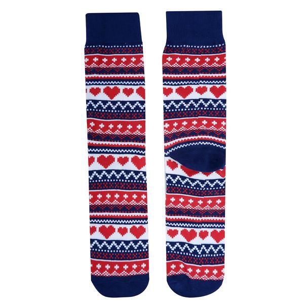 Men's Heart Novelty Socks- NVS19617-RD