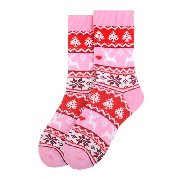 Women's Vintage Winter Pattern Novelty Socks - LNVS19441
