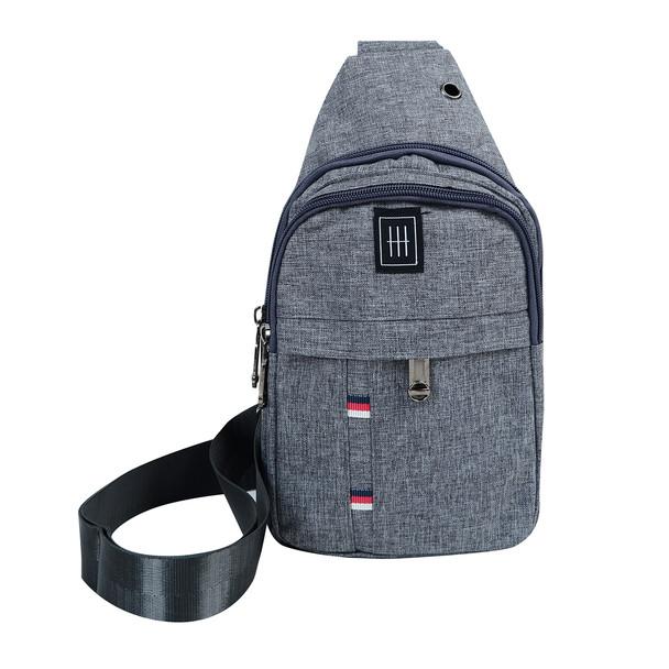 Canvas Crossbody Sling Bag  with Headphone Hole - FBG1861