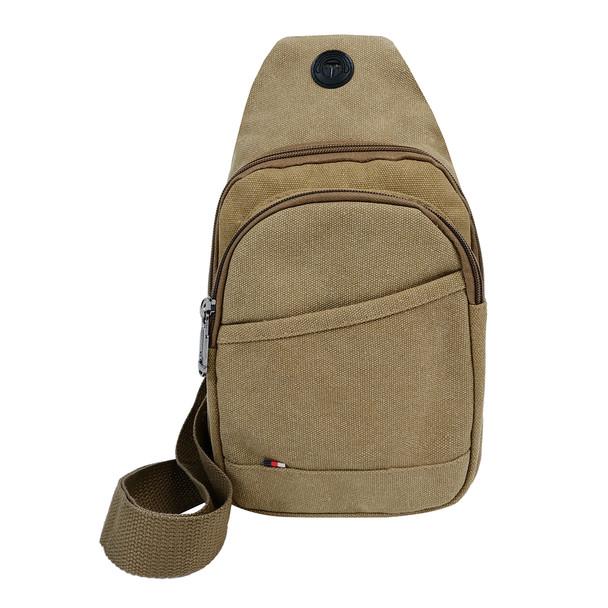 Canvas Crossbody Sling Bag with Adjustable Strap - FBG1863