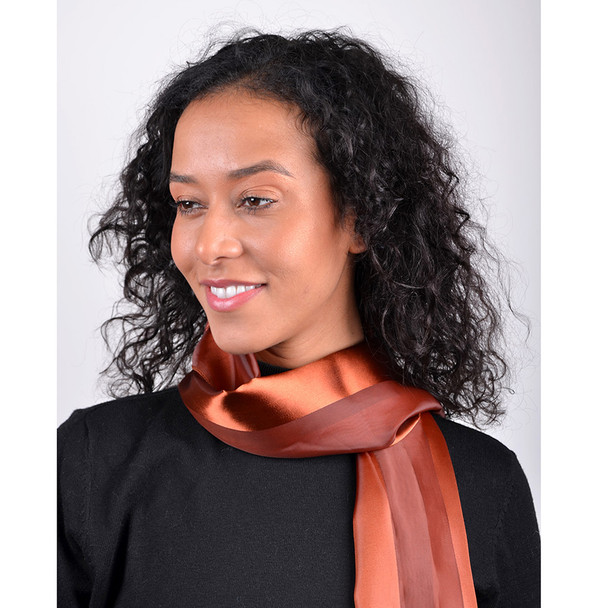Solid Polyester Satin Scarf SPS1301