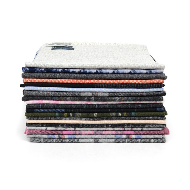 24pc Random Assorted 100% Wool Scarf Pre-Pack  - HWS24/ASST