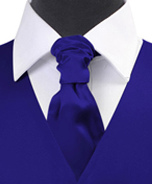 Royal Blue Poly Solid Satin Cravat FC1701-4