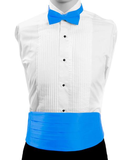 Men's Poly Satin Bow Tie and Cummerbund Sets CBT1301
