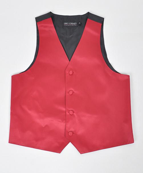 Boy's Solid Poly Satin Vests BSV3501