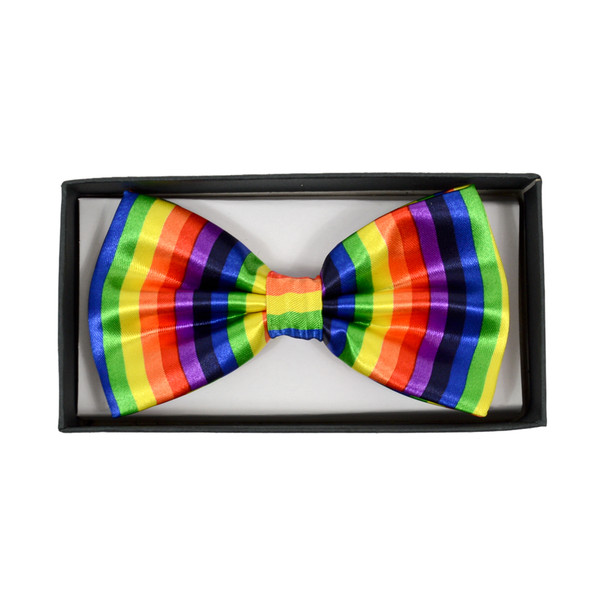 Men's Rainbow Banded Bow Tie