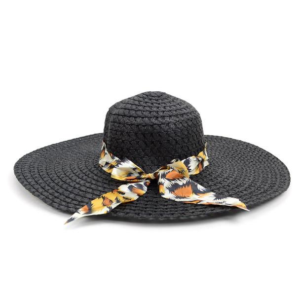 """Women's 5"""" Brim Bow Floppy Hat LFH1118"""
