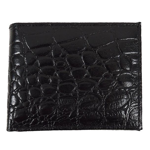 Bi-Fold Genuine Leather Crocodile Wallet MGLW-A26C