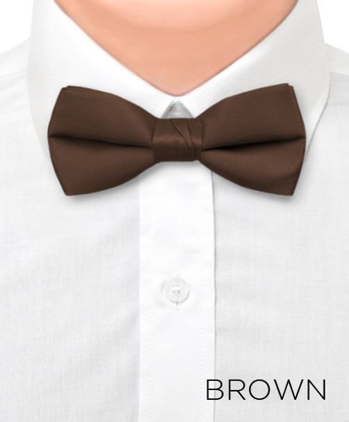 "Boy's 1.5"" Poly Satin Banded Bow Ties BBT1301"