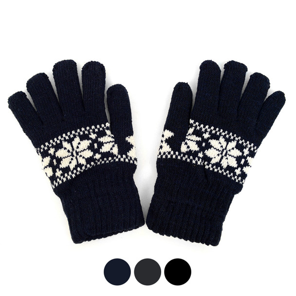 12pc. Men's Knit Winter Gloves GM1000