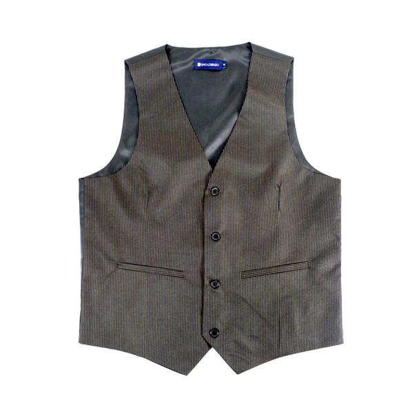 6pc Men's Rayon/Polyester Black Vests